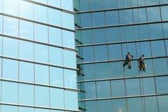 清洁高度视窗工作 图库摄影