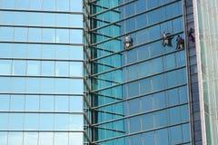 清洁高度视窗工作 免版税图库摄影