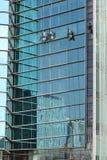 清洁高度视窗工作 库存图片