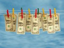 清洗货币 图库摄影