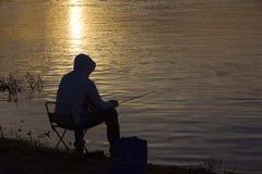 渔人在夏天 图库摄影