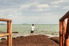 渔人在度假 免版税库存照片