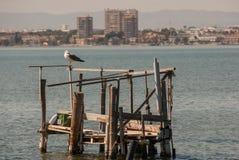 渔人工制品在3月Menor穆尔西亚 库存图片