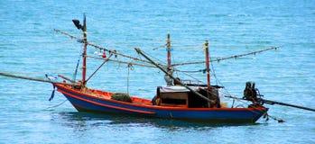渔和小船 库存照片