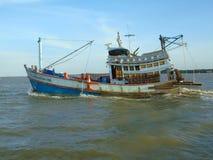 渔场小船 库存照片