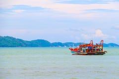 渔场小船 免版税库存照片