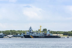 渔场巡逻舰Seeadler 免版税库存图片