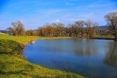 渔场池塘 免版税库存图片