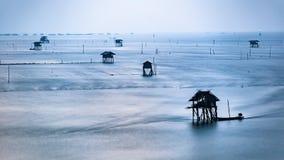 渔场海的水运动 免版税库存照片