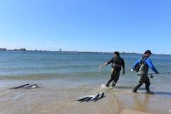 渔夏季在纽约地区 库存图片