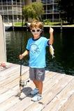 渔夫一点 免版税库存图片