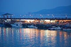 渔夫台湾码头 库存照片