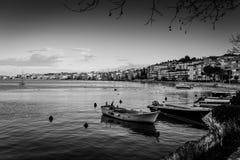 渔夫在冬天-土耳其保护 图库摄影