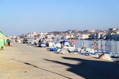 渔夫在冬天-土耳其保护 免版税库存图片