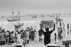 渔夫在加纳 库存图片