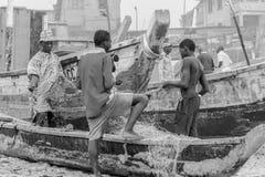 渔夫在加纳 库存照片