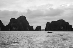 渔夫在南海 库存照片