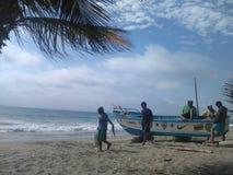 渔夫在厄瓜多尔 免版税库存图片