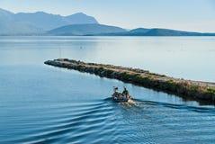 渔夫在希腊 库存照片