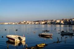 渔夫在明亮的天-土耳其保护 免版税库存照片