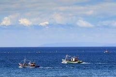 渔夫在海峡直布罗陀 免版税图库摄影