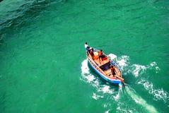 渔夫在海的` s生活 免版税图库摄影