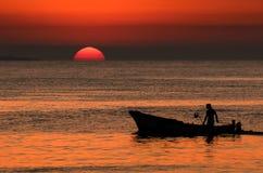 渔夫在西西里岛 库存图片