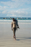 渔夫在索马里 库存照片