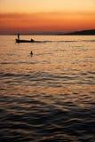 渔夫在Omis,克罗地亚 免版税库存图片