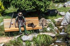 渔夫基于长凳的,都灵,意大利 库存照片