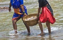 渔夫妇女 图库摄影
