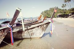 渔夫小船在泰国 免版税库存照片