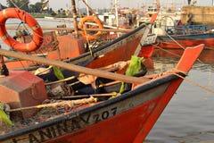 渔夫小船,蒙得维的亚 免版税库存图片