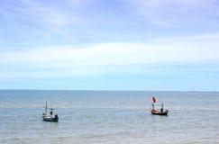 渔夫小船  库存图片