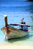 渔夫小船 图库摄影