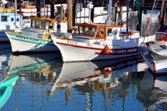 渔夫小船 免版税库存照片