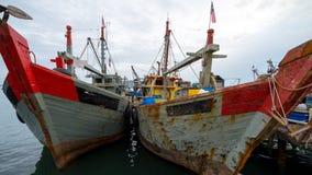 渔夫小船 免版税图库摄影