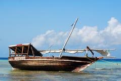 渔夫小船 库存照片