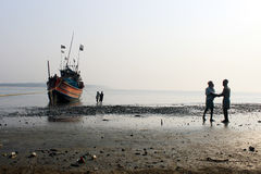渔夫工作 库存照片