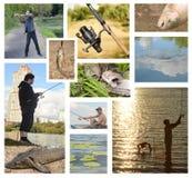 渔夫捕鱼 图库摄影