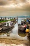 渔夫村庄在妇女s海岛, Chiemsee湖 图库摄影