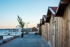 渔夫村庄在葡萄牙 图库摄影