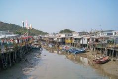 渔夫村庄在香港 免版税库存照片
