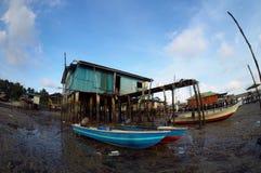 渔夫村庄 图库摄影