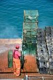 渔夫清洁 免版税图库摄影