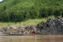 渔夫湄公河,老挝 免版税库存图片