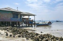 渔夫的小船,苏门答腊,印度尼西亚 免版税库存图片