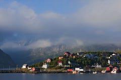 渔夫的房子lofoten海岛 免版税图库摄影