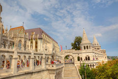 渔夫的本营在布达佩斯。 免版税库存照片