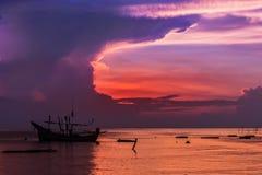 渔夫的泰国回教渔船 免版税库存图片